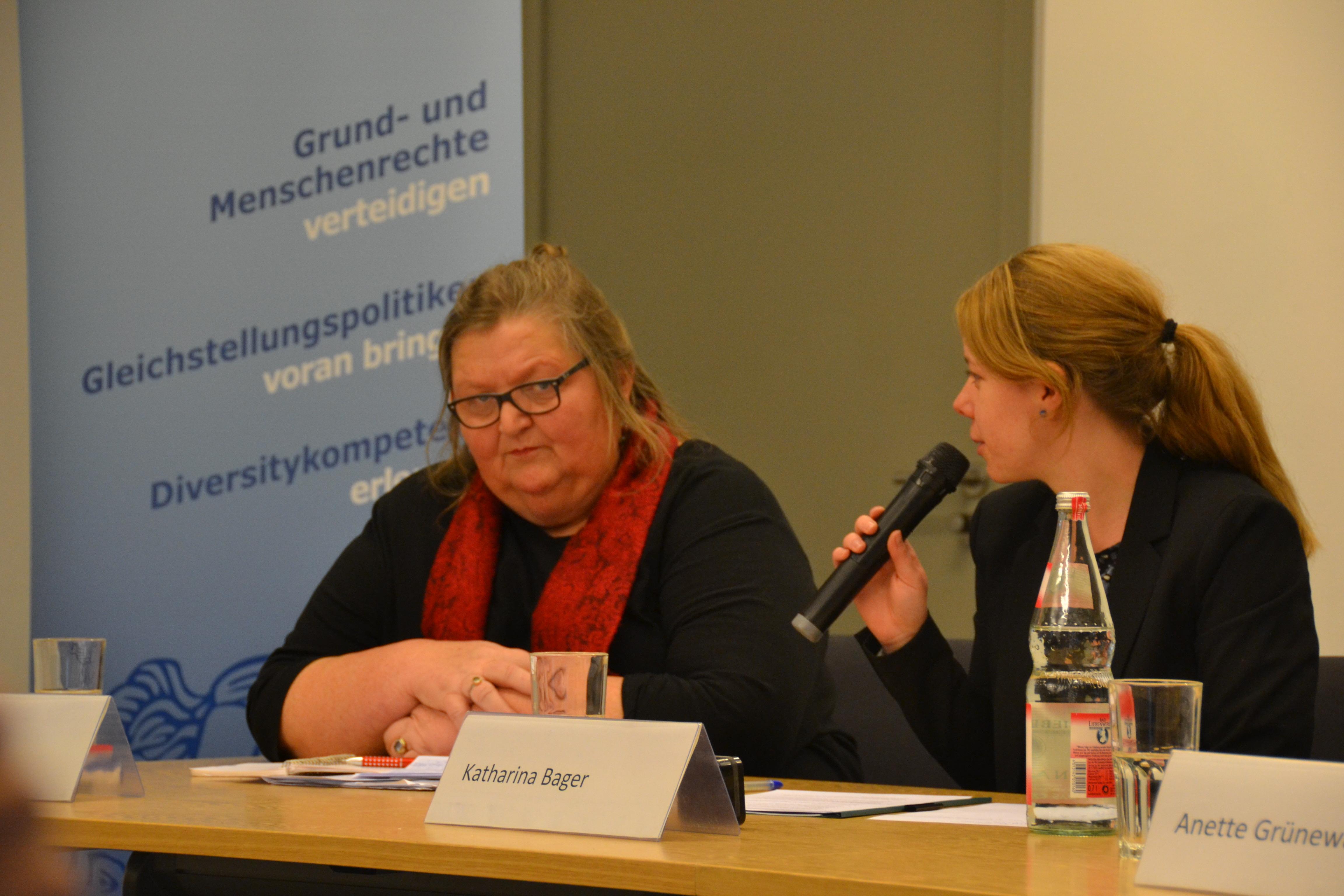 Lucie Veith, Katharina Bager, Thementag Inter*geschlechtlichkeit der HLCMR